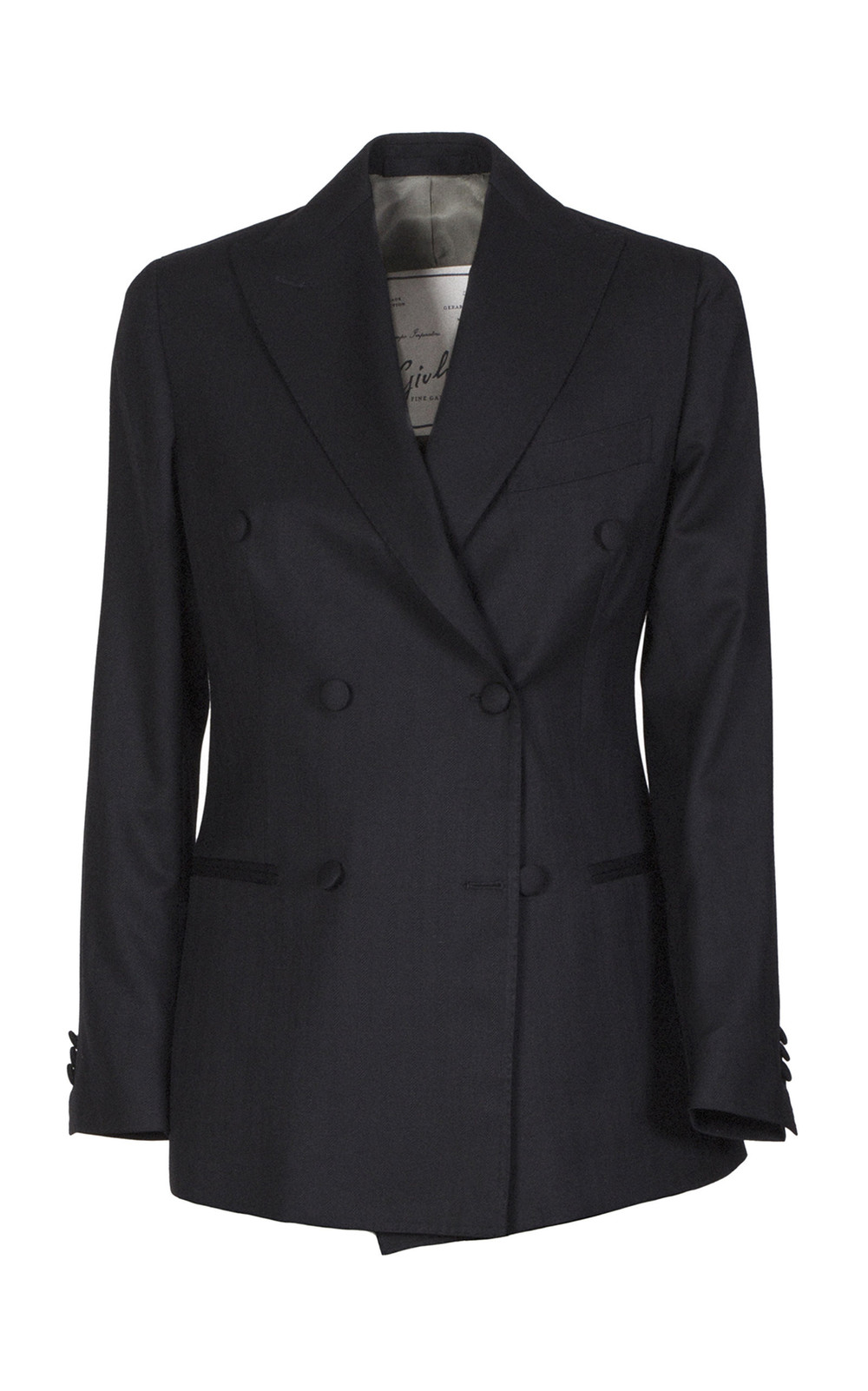 Giuliva Heritage Collection Double Breasted Suit Blazer in black