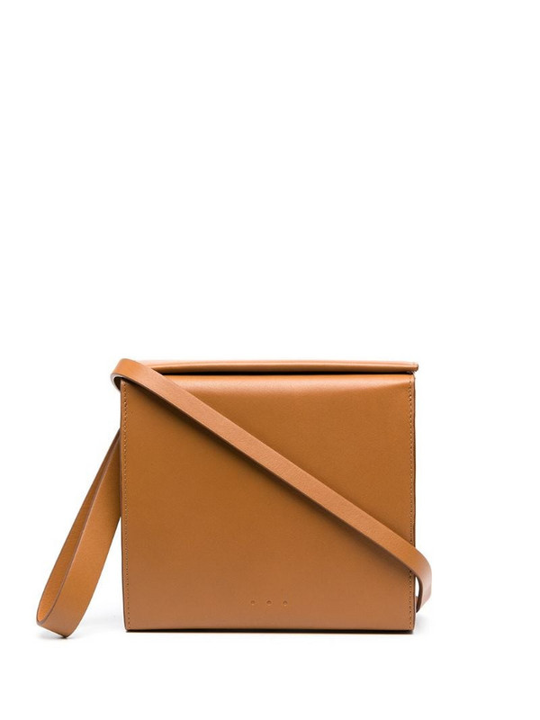 Aesther Ekme Pouch leather clutch bag in brown
