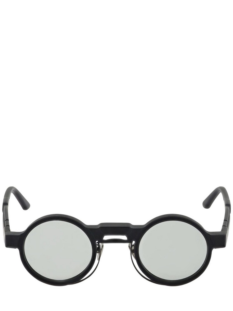 KUBORAUM BERLIN N3 Double Frame Round Acetate Sunglasses in black / grey