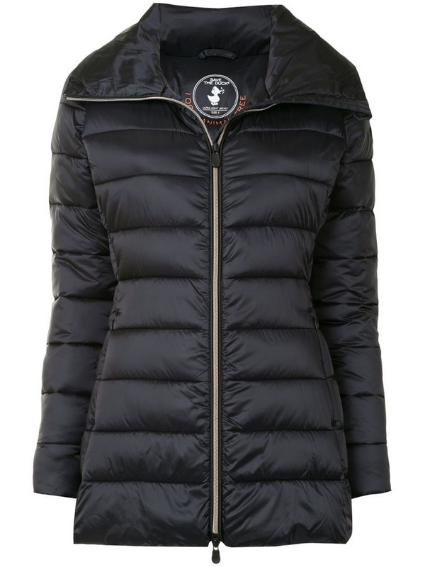 Save The Duck light tie-waist quilted jacket in blue