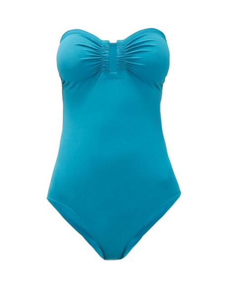 Eres - Cassiopée Duni Strapless Swimsuit - Womens - Blue