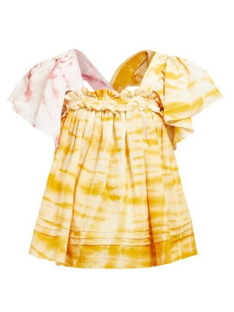 Story Mfg - Aida Tie Dye Organic Cotton Top - Womens - Yellow