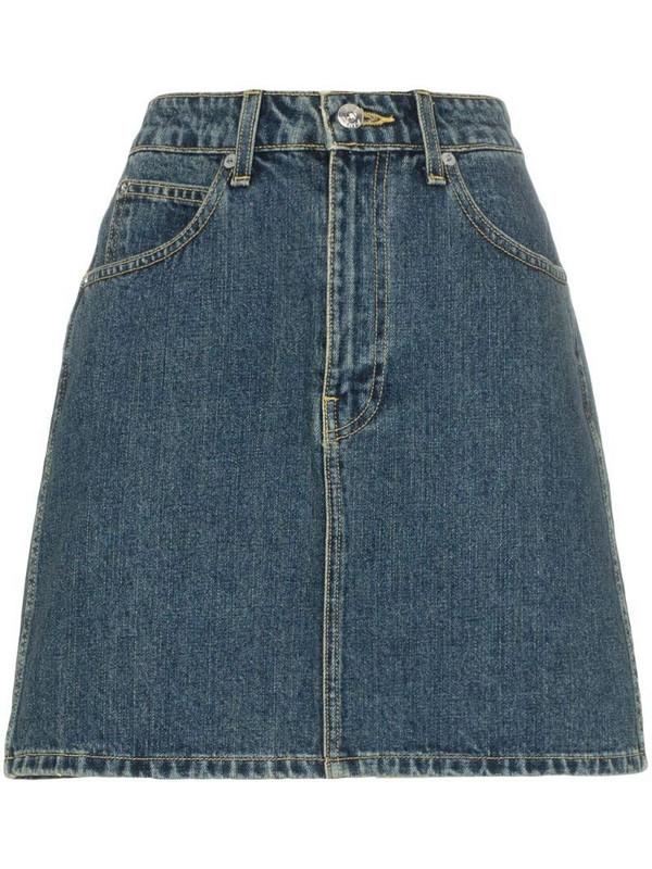Eve Denim Tallulah high-wasited denim mini skirt in blue