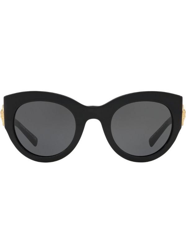 Versace Eyewear Tribute oversized-frame sunglasses in black