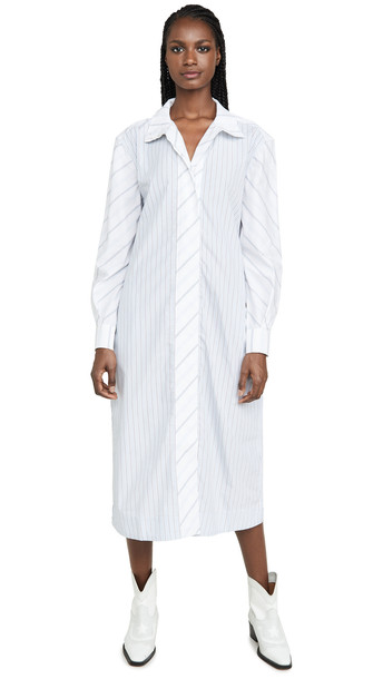 GANNI Shirting Cotton Dress