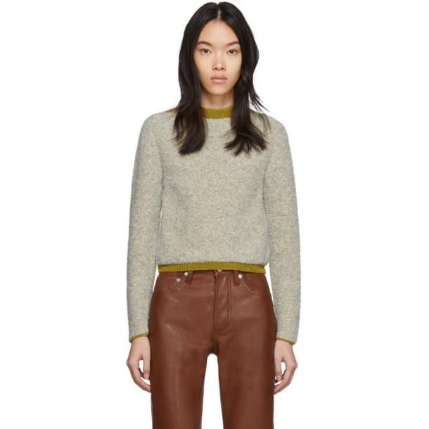 Eckhaus Latta Beige Clavicle Sweater