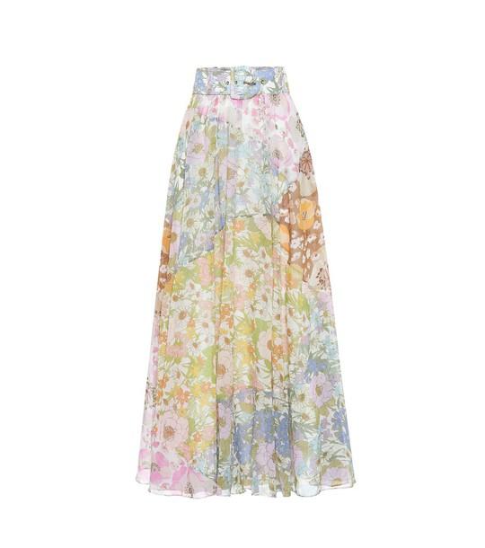 Zimmermann Super Eight cotton-blend maxi skirt