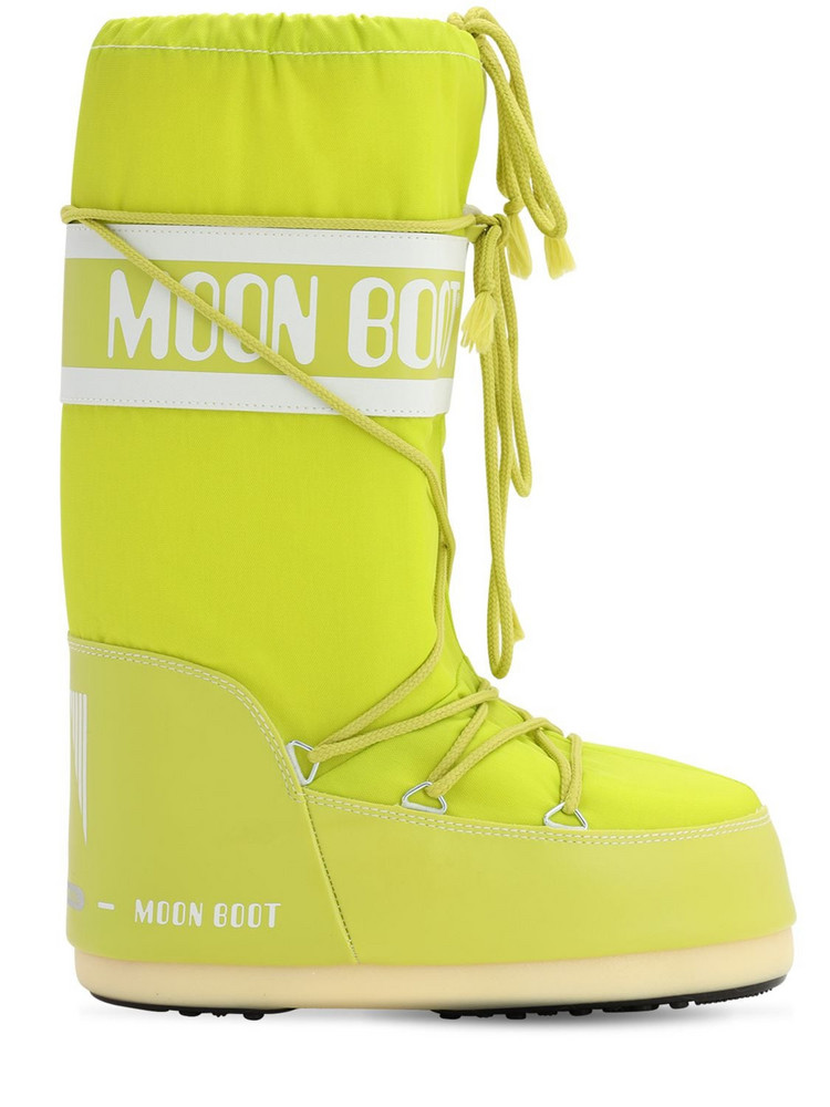 MOON BOOT Classic Nylon Waterproof Snow Boots in green