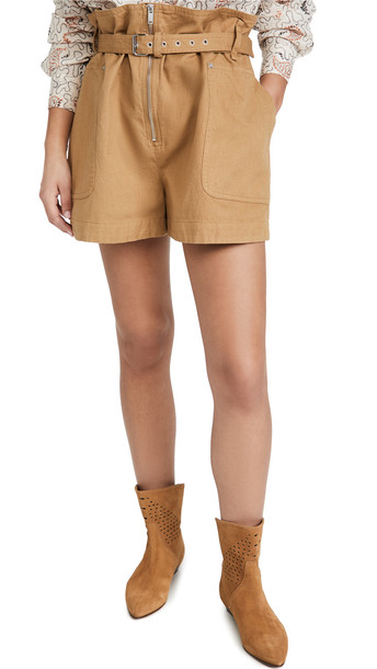 Isabel Marant Etoile Parana Shorts in camel