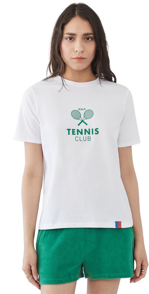 KULE The Modern Tennis Tee in white