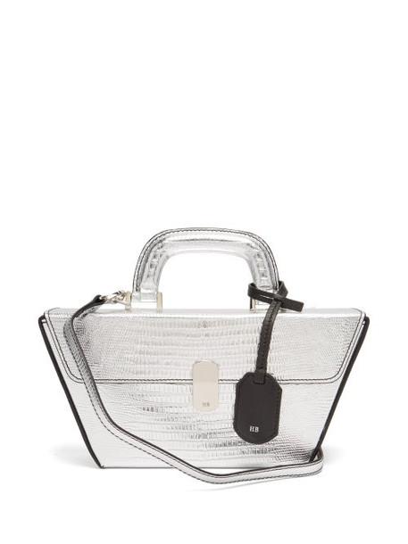 Hillier Bartley - Cassette Lizard Effect Leather Bag - Womens - Silver