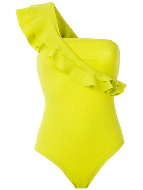 Clube Bossa Siola ruffle swimsuit in yellow
