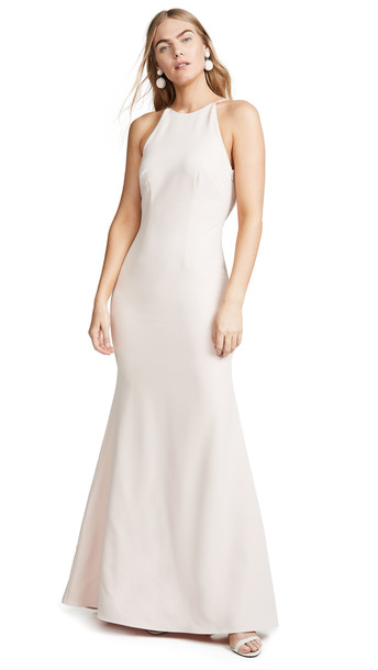 WAYF The Nina Cowl Back Gown in pink