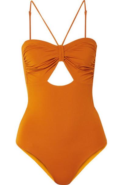 Johanna Ortiz - Tormenta De Arena Cutout Swimsuit - Orange