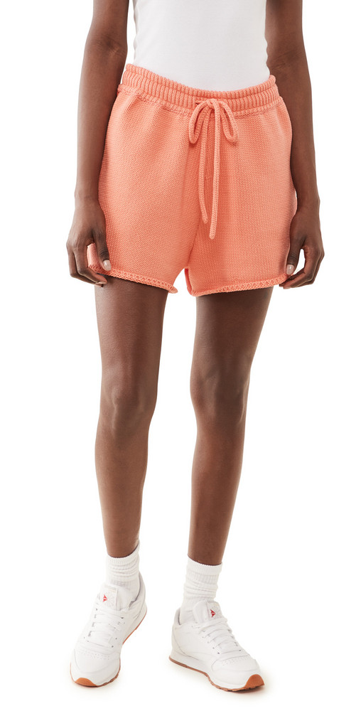 JoosTricot Solid Shorts in coral
