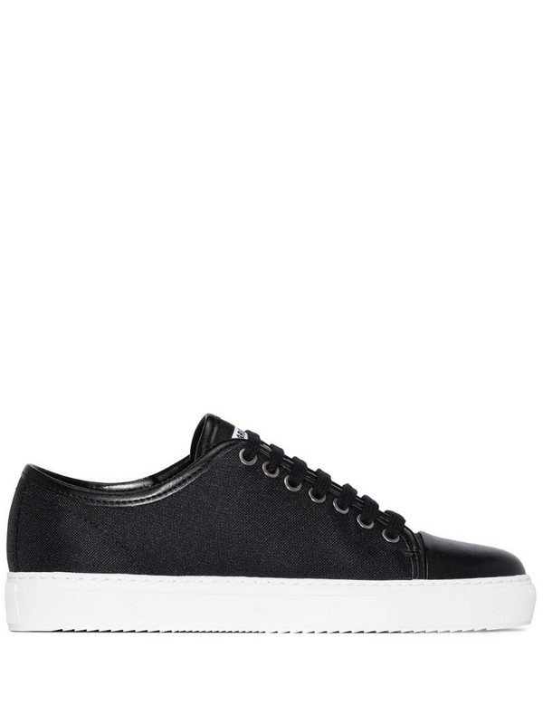Axel Arigato panelled low-top sneakers in black
