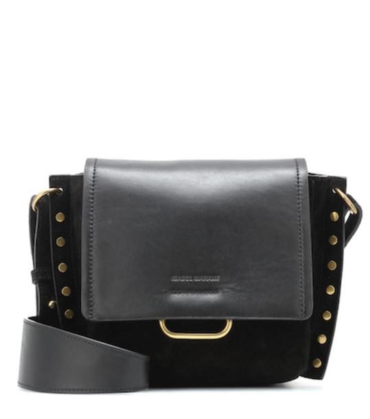 Isabel Marant Kleny suede and leather shoulder bag in black