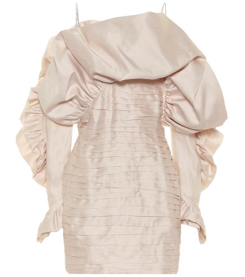 Magda Butrym Trani taffeta minidress in pink