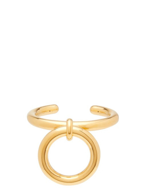 Bottega Veneta - Hoop Charm Gold Plated Sterling Silver Cuff - Womens - Gold