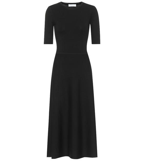 Gabriela Hearst Seymore wool and cashmere midi dress in black