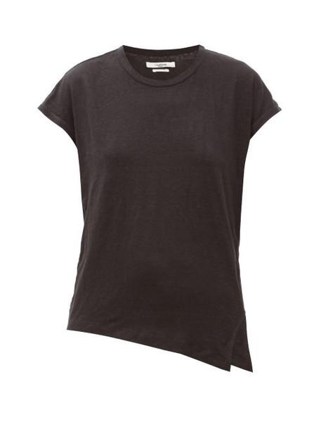 Isabel Marant Étoile - Kella Linen-jersey T-shirt - Womens - Black