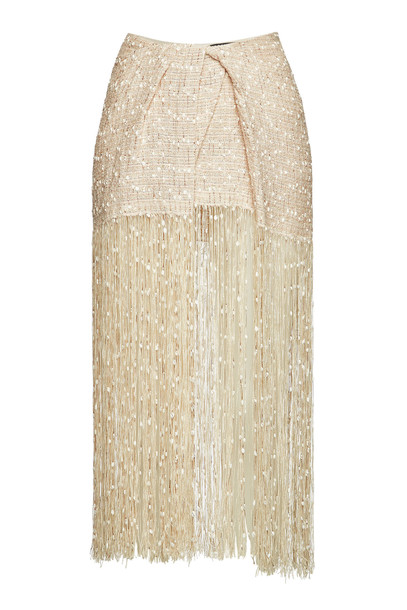 Jacquemus Capri Skirt  in beige