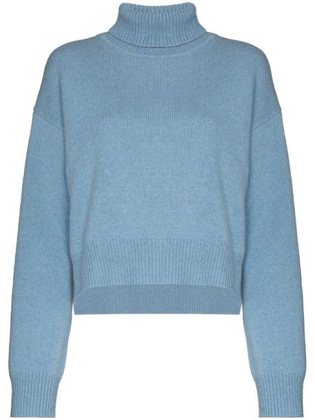 Rejina Pyo turtleneck fine-knit jumper in blue