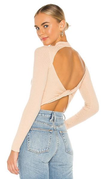 Lovers + Friends Lovers + Friends Cody Back Twist Sweater Neutral in Cream