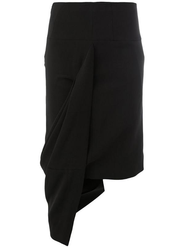 Haider Ackermann asymmetric skirt in black