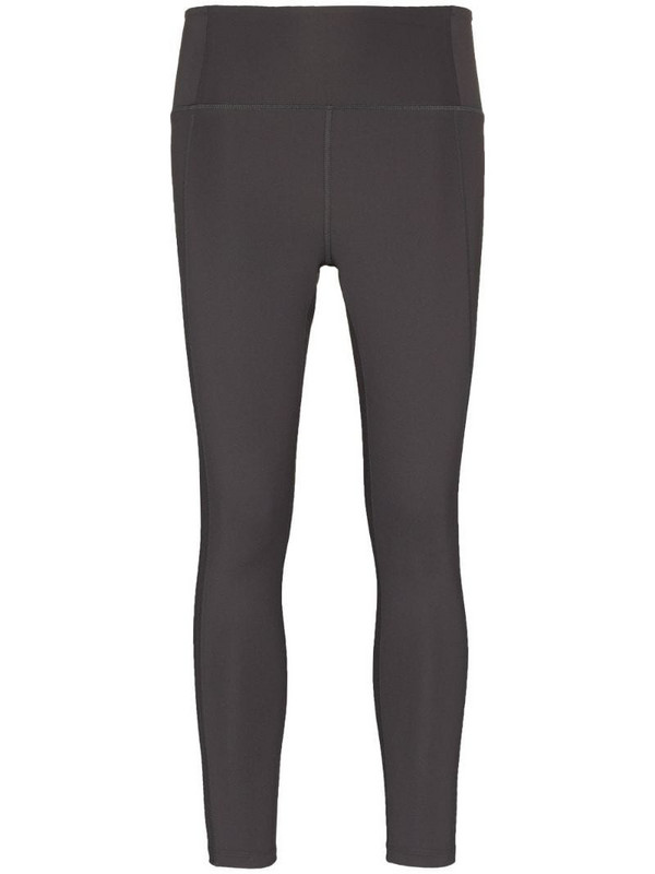 Girlfriend Collective stretch-fit seam detail leggings in grey