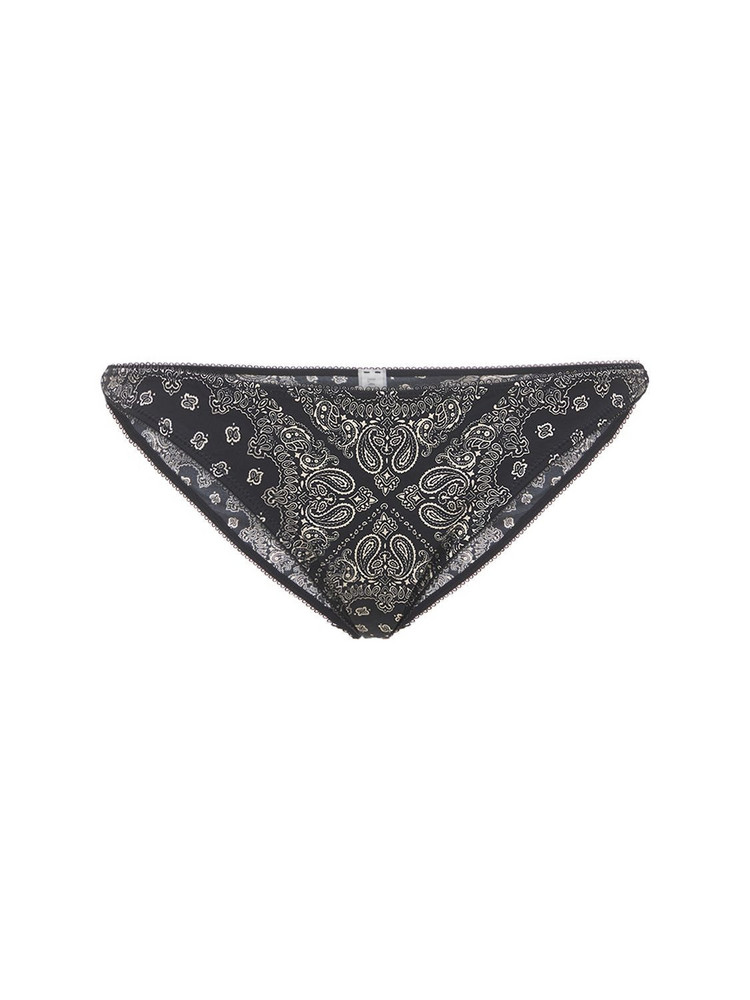 LOVE STORIES Shelby Printed Jersey Briefs in black