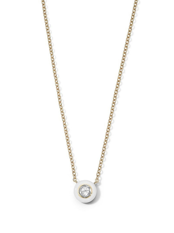 IPPOLITA 18kt yellow gold diamond Stardust Solitaire necklace