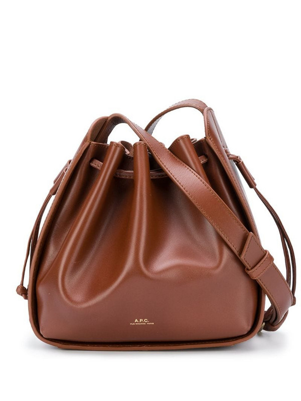 A.P.C. Courtney Small bucket bag in brown