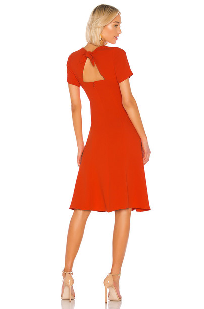 Diane von Furstenberg Rose Dress in red