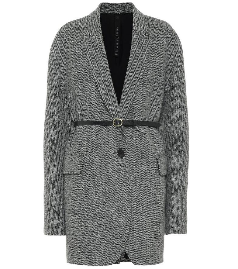 Petar Petrov Jaya wool herringbone jacket in black