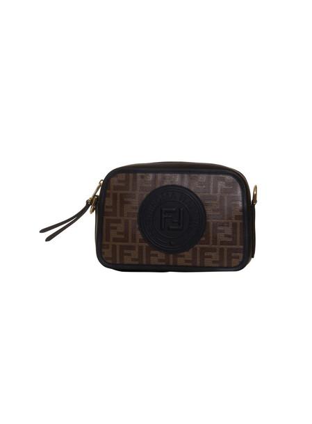 Fendi Camera Case Multicolour Canvas Bag in nero