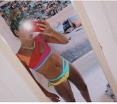 swimwear,bikini,colorful,summer,annacorcorann,neon bikini