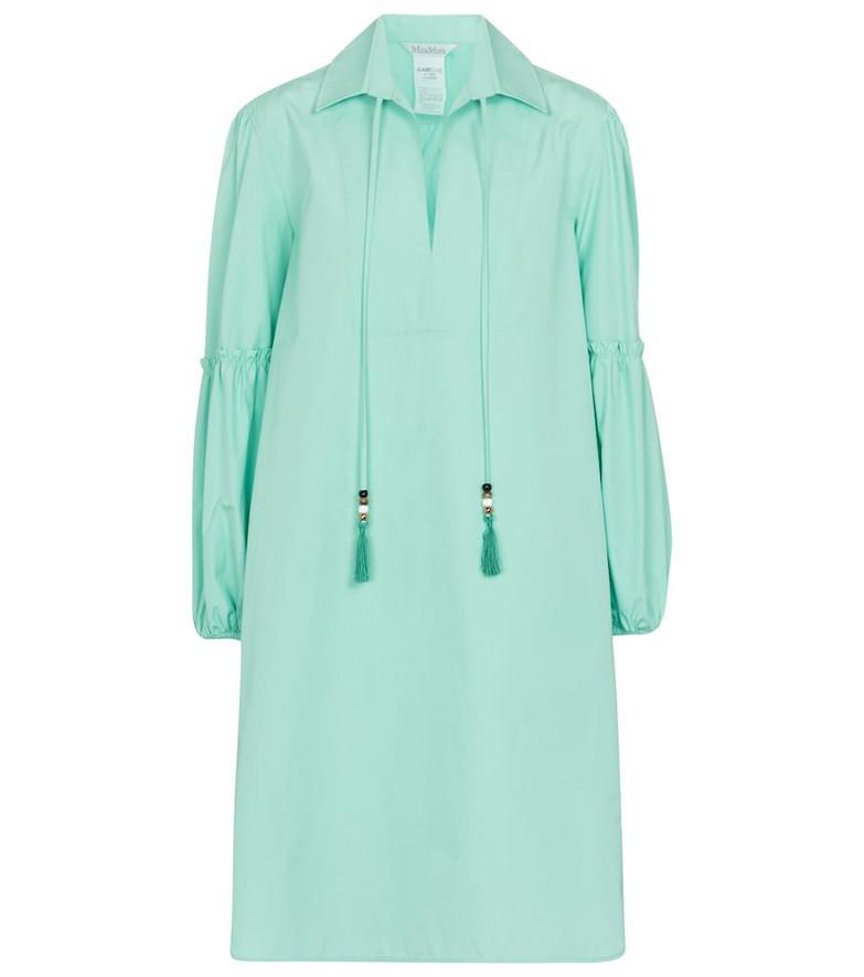 Max Mara Fedora cotton minidress in blue