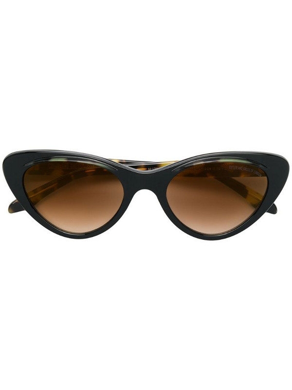 Cutler & Gross oversized cat eye sunglasses in brown