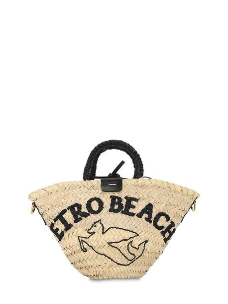 ETRO Sm Raffia Bucket Bag in natural
