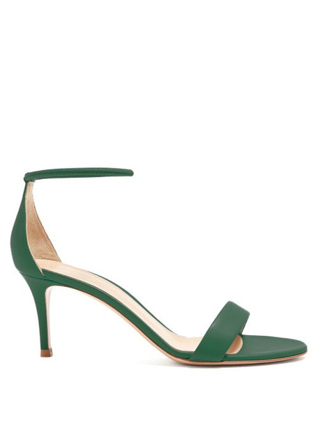 Gianvito Rossi - Asia 70 Leather Sandals - Womens - Green