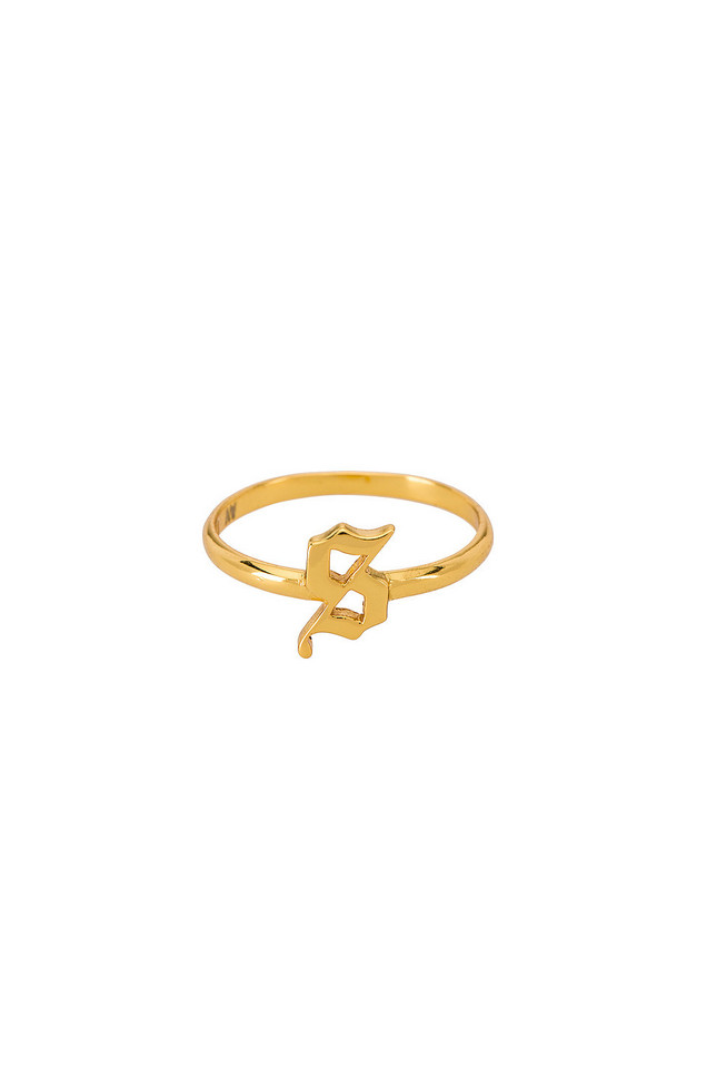 The M Jewelers NY The Gothic Letter S Ring in gold / metallic