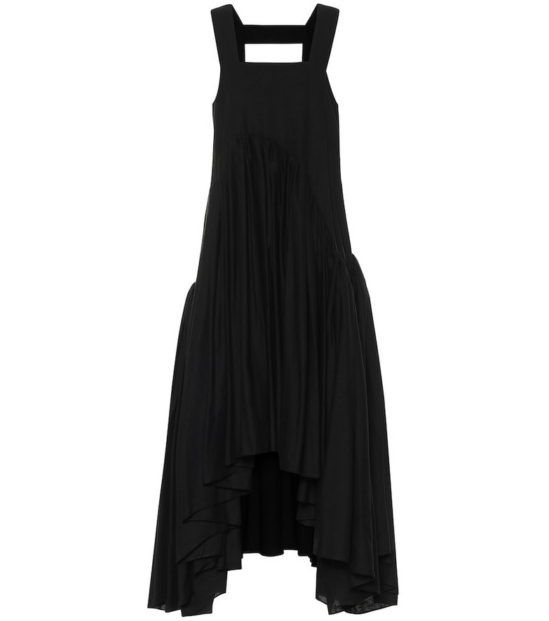 Loewe Paula's Ibiza linen-blend midi dress in black