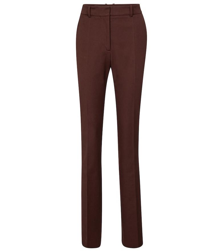 Joseph Cole high-rise slim gabardine pants in brown