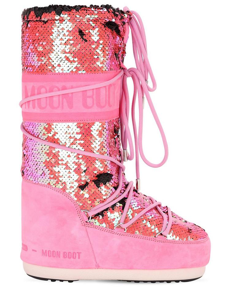MOON BOOT Classic Disco Boots in fuchsia