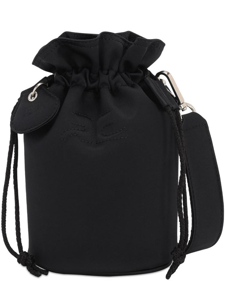 COURREGES Cotton Bucket Bag in black