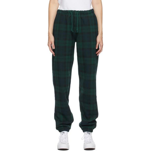 Noon Goons Green Tartan Plaid Icon Lounge Pants in navy