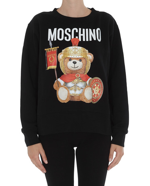 Moschino Roman Teddy Bear Sweatshirt in black