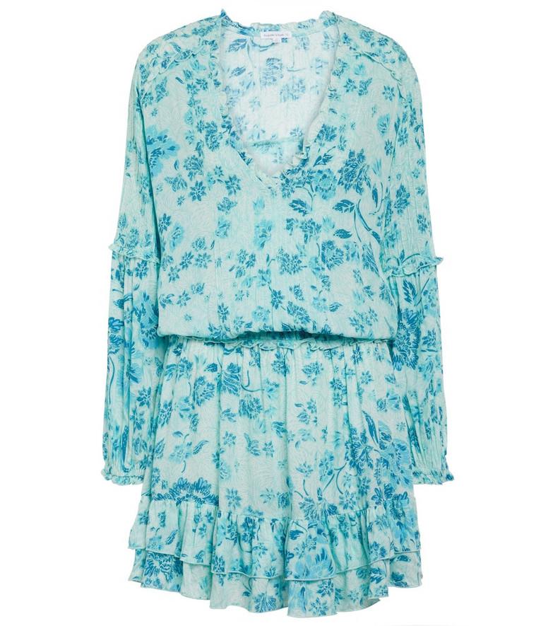 Poupette St Barth Ilona floral minidress in blue