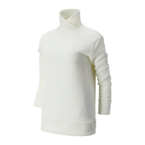 New Balance 93118 Women's NB Heat Loft Pullover - Off White (WT93118SST)